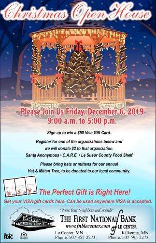 Christmas Open House - December 6