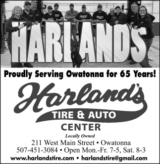 Proudly Serving Owatonna dor 65 Years!