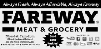 Always Fresh, Always Affordable, Always Fareway