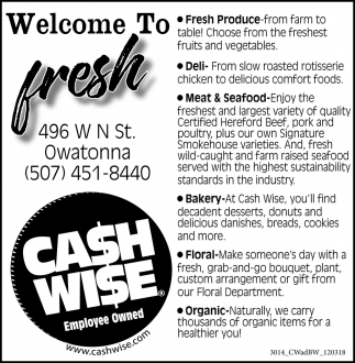 Welcome To Fresh
