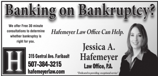 Banking on Bankruptcy?