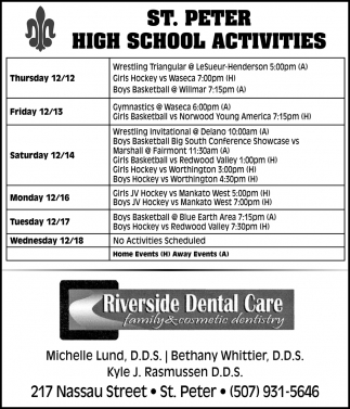 St. Peter High School Activities
