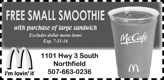 FREE SMALL SMOOTHIE