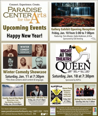Upcoming Events - Happy New Year