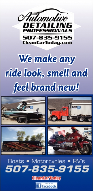 We make any ride look, smell and feel brand new!