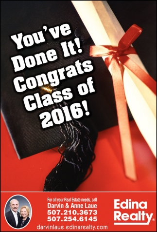 You've Done It! Congrats Class of 2016!
