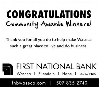 Congratulations Community Awards Winners