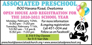 Open House And Registration For The 2020-2021 School Year