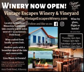 Vinery Now Open!