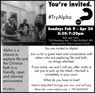 You're invited #Try Alpha