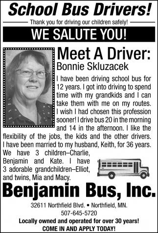 Meet The Drivers: Bonnie Skluzacek