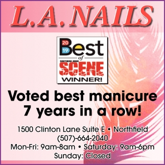 Voted best manicure 7 years in a row