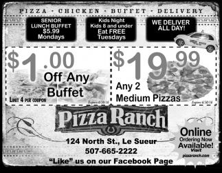 PIZZA. CHICKEN. BUFFET. DELIVERY