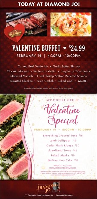 Valentine Buffet - $24.99