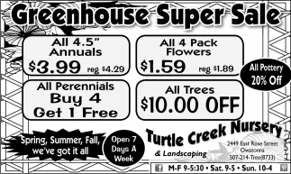 Greenhouse Super Sale