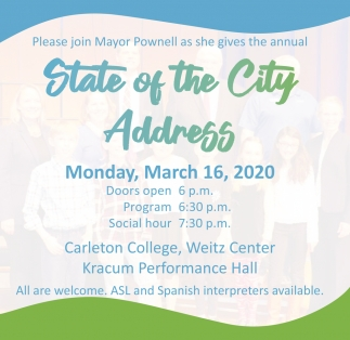 State of the City Address - March 16