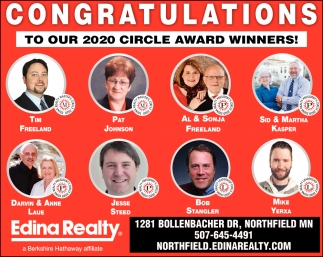 Congratulations to our 2020 circle Award Winners!