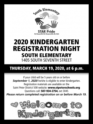 202 Kindergarten Registration Night