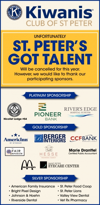 Unfortunately St. Peter's Got Talent - Will be cancelled for this year