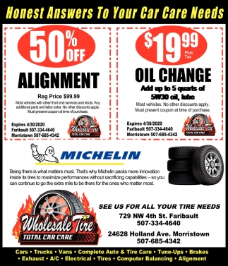 See Us for All Your Tire Needs