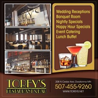 Wedding Receptions Torey S Restaurant