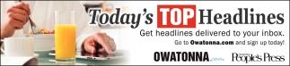 Today's Top Headlines