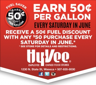 EARN 50¢ PER GALLON
