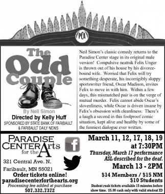 The Odd Couple - Neil Simon's classic comedy returns