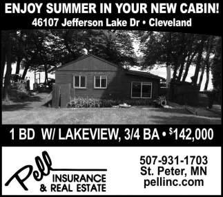 ENJOY SUMMER IN YOUR NEW CABIN!