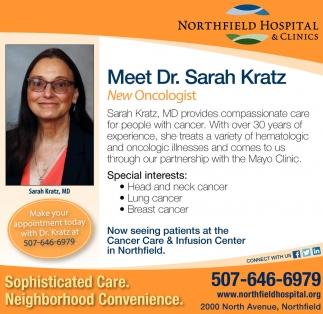 Meet Dr. Sarah Kratz