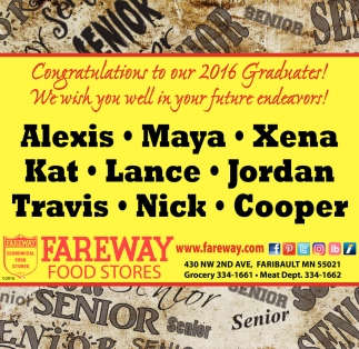 Congratulations to our 2016 Graduates!