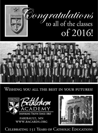 Congratulations to all of the classes of 2016!