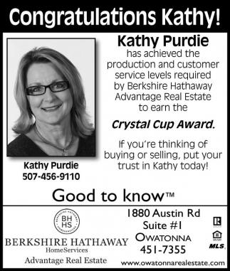 Congratulations Kathy!