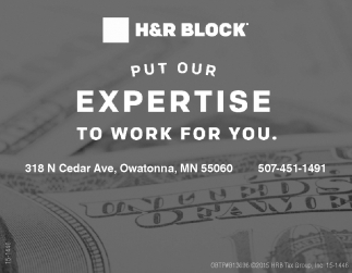 PUT OUR EXPERTISE TO WORK FOR YOU, H&r Block