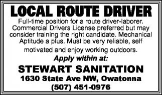 LOCAL ROUTE DRIVER