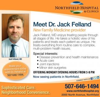 Meet Dr. Jack Felland