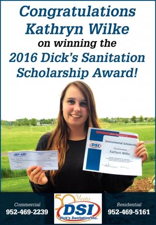 Congratulations Kathryn Wilke