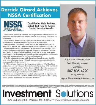 Derrick Girard Achieves
