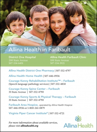 Allina Health in the Faribault