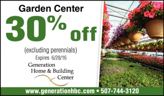 Garden Center 30% off