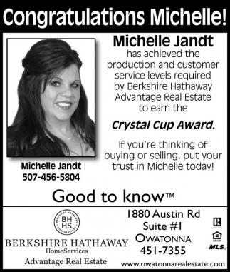 Congratulations Michelle!