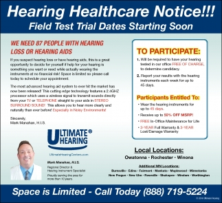 WE NEED 87 PEOPLE WITH HEARING LOSS OR HEARING AIDS