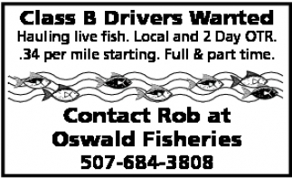 Class B Drivers Wanted
