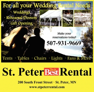 For all your Wedding Rental Needs