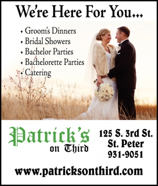 Ads For Patrick's On Third in Southern Minn