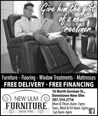 Ads For New Ulm Furniture In New Ulm, MN