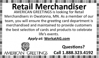 Retail merchandiser american greetings ads for american greetings in owatonna mn m4hsunfo
