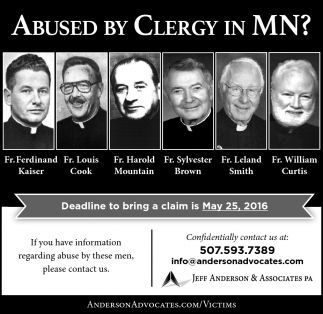 Abused by Clergy in MN?