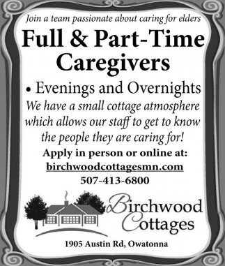 Full and Part Time Caregivers