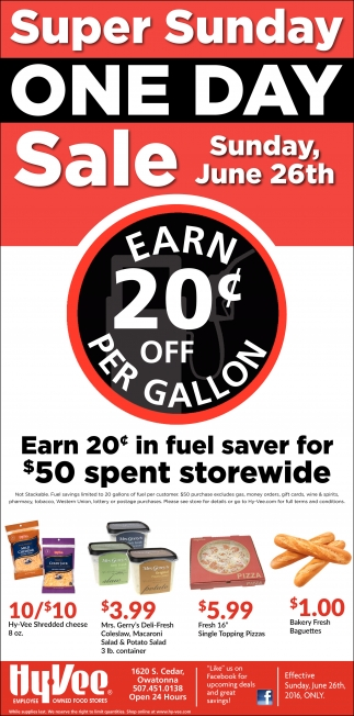 EARN 20¢ OFF PER GALLON